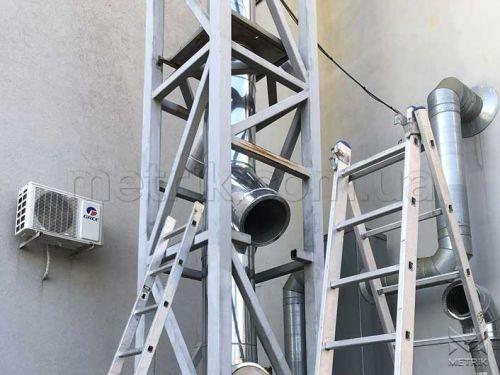 Дымоходная система для промышленного здания